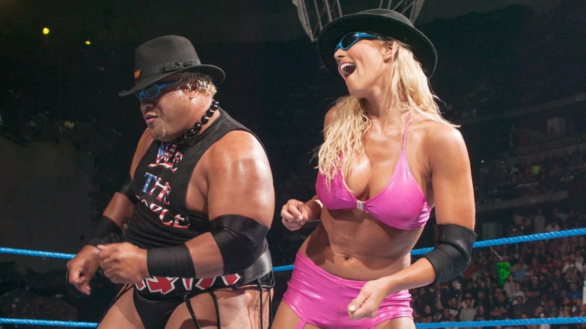Torrie Wilson and Rikshi dancing in the ring