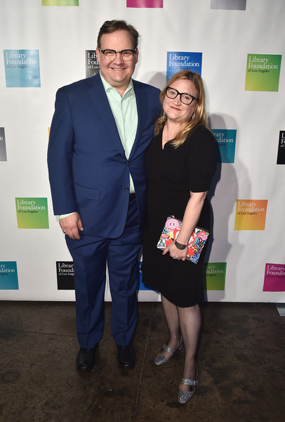 Andy Richter and her wife in a event