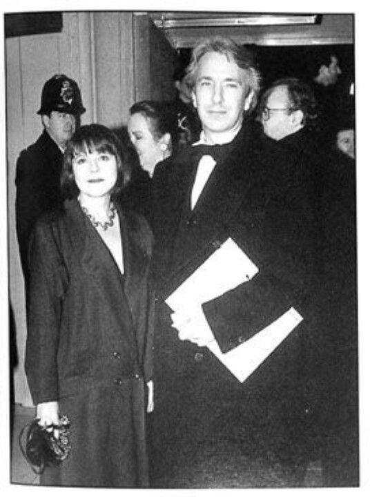 The B&W photo of Rima Horton and Alan Rickman