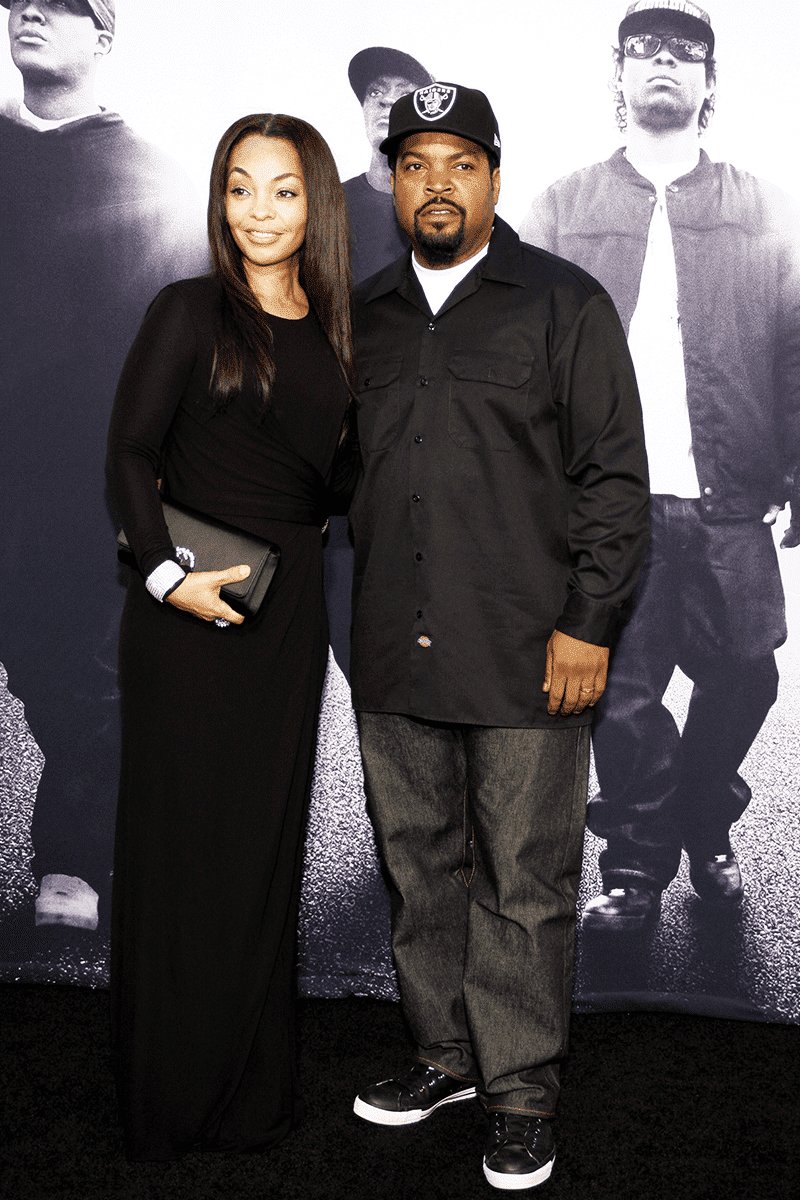Ice Cube and her wife in an event