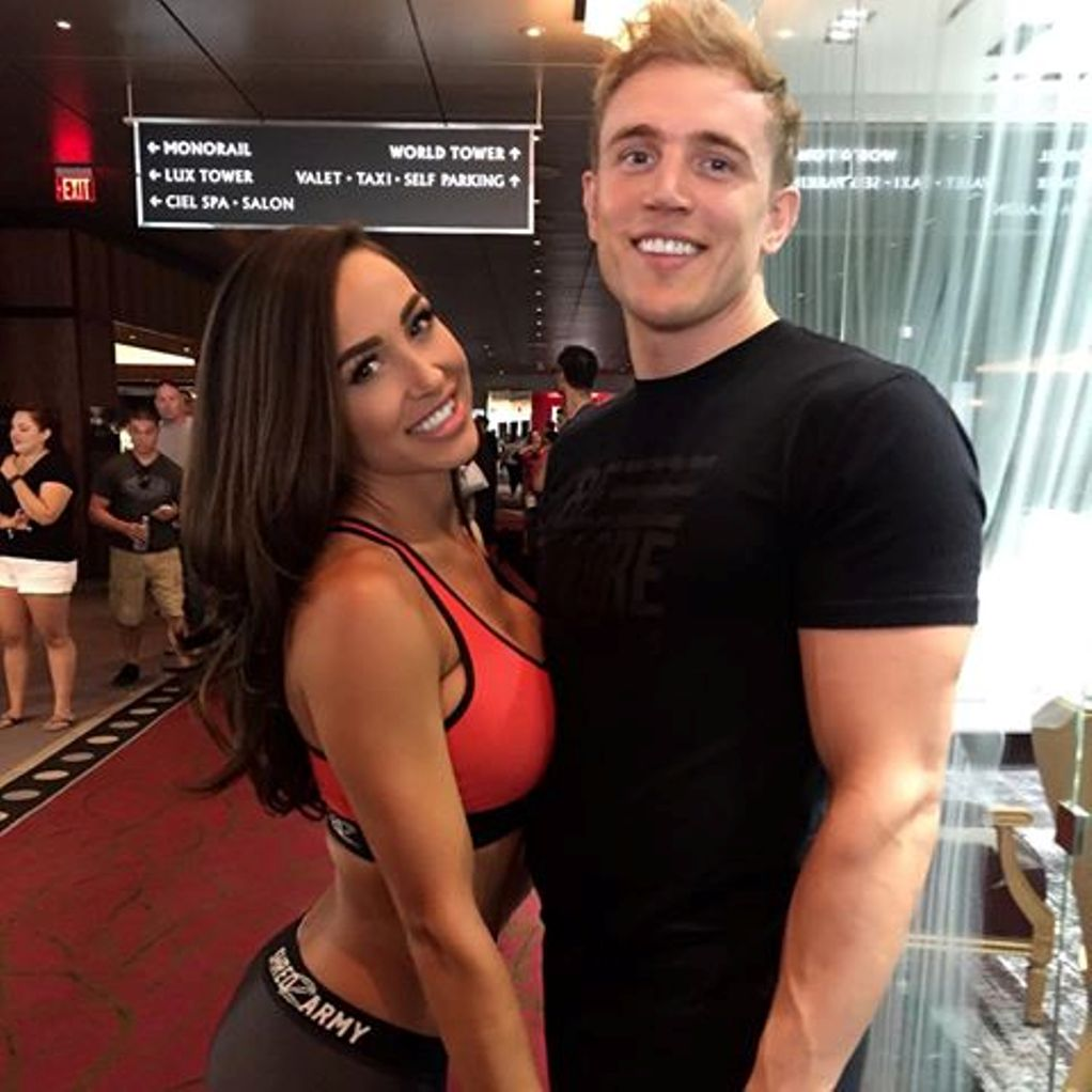 Ana Cheri and Ben Moreland sharing the happy moment in an event