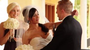 Ana Cheri and Ben Moreland at their wedding ceremony in 2011