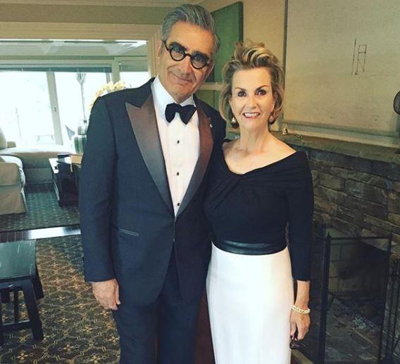 Dan and Sarah Levy in formal dress