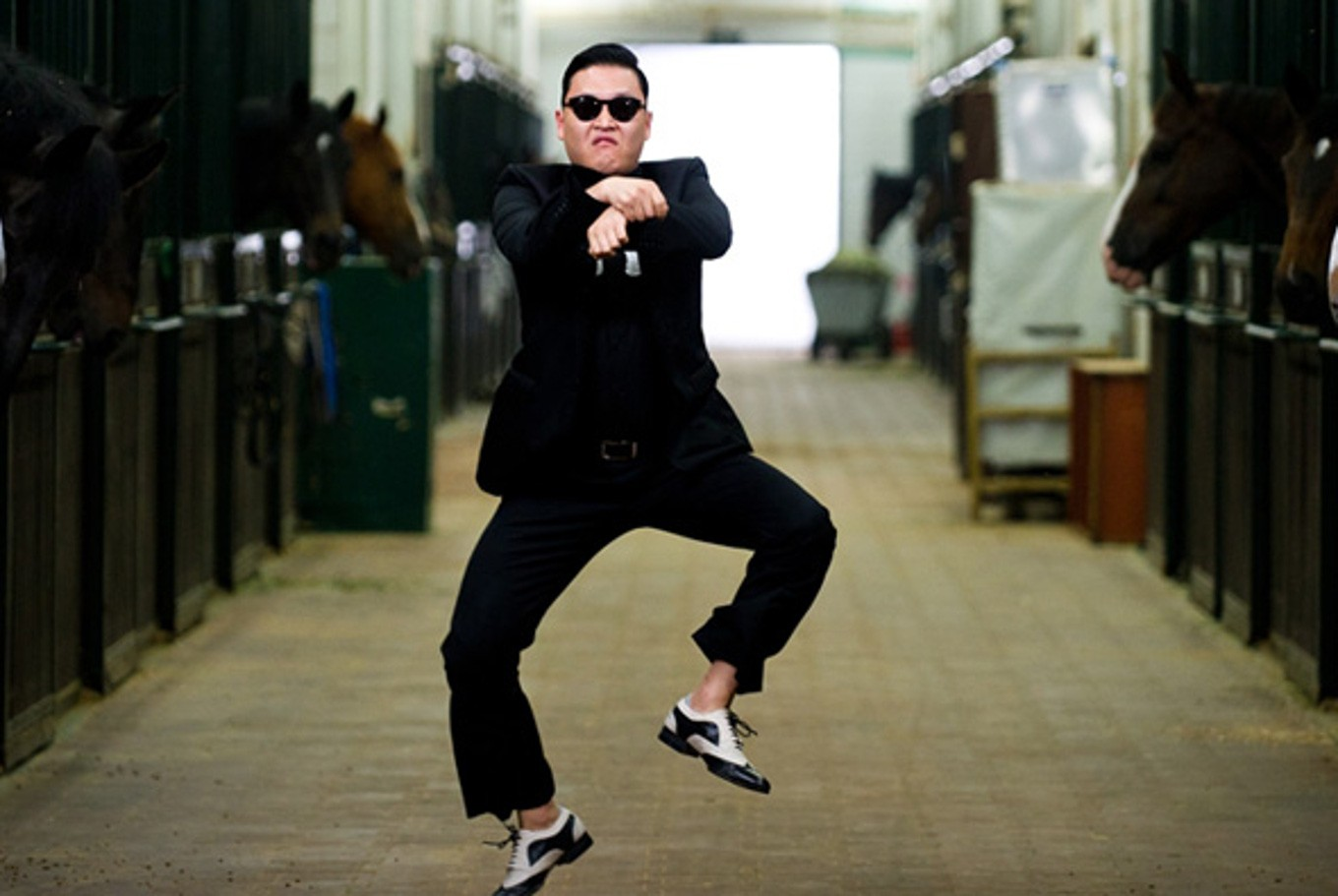 A still from Psy's famous music video Gangnam Style.