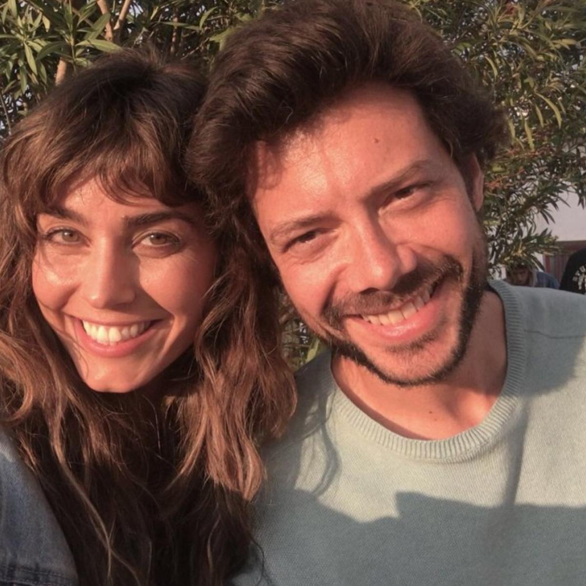 Money Heist actor Alvaro Morte and wife Blanca Clemente take a selfie.