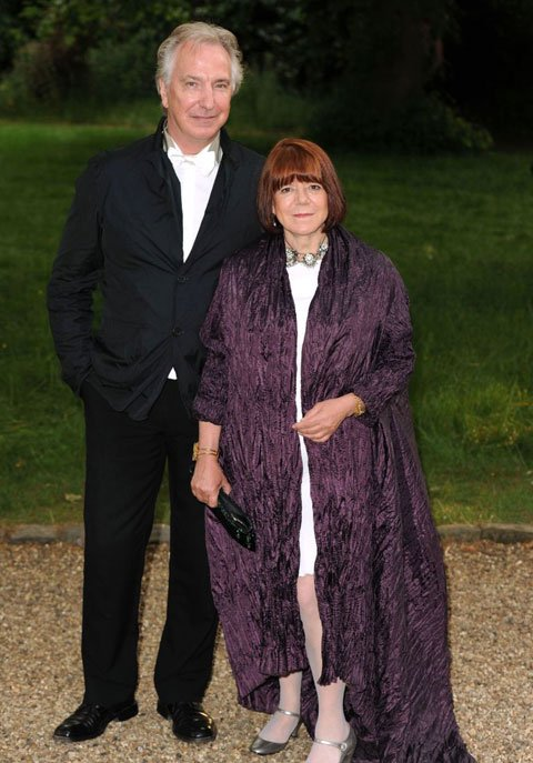 Very long time love couple Rima Horton and Alan Rickman