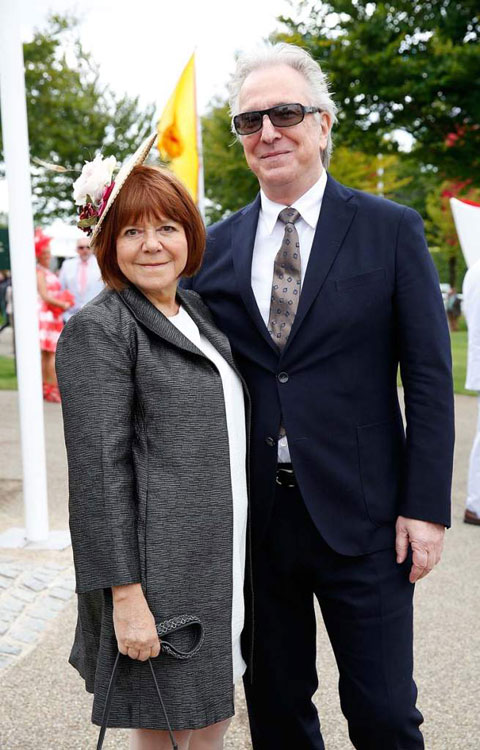 Rima Horton and her late husband Alan Rickman