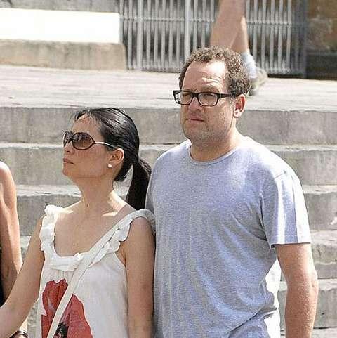Lucy Liu with her boyfriend Noam Gottesman