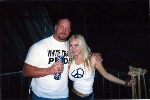 Steve Austin with Tess Broussard