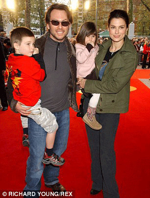 Ryan Haddon and Christian Slater with their children