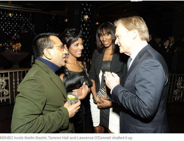 Tamron Hall and Lawrence O'Donnell together at the show