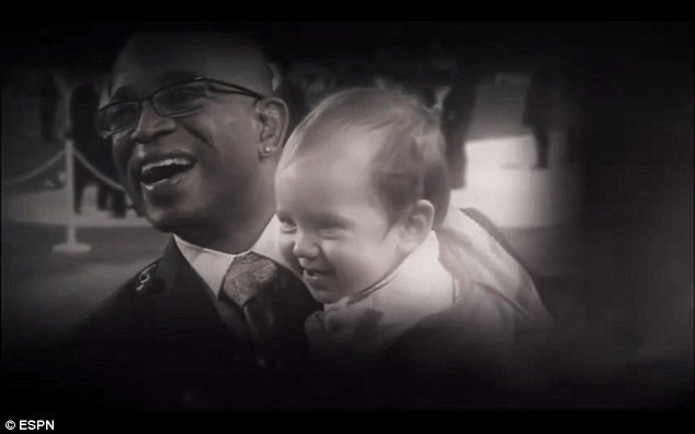 Suzy Kolber's daughter Kellyn was held by veteran broadcaster, Stuart Scott