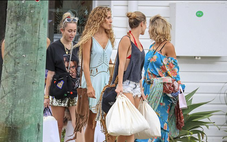 Miley Cyrus seen with Lima's sister in Byron Bay, Looks like the ladies had a Girl's Day Out