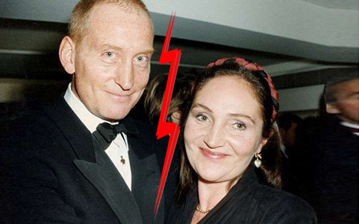 Why did Charles Dance and his wife, Joanna get divorced?