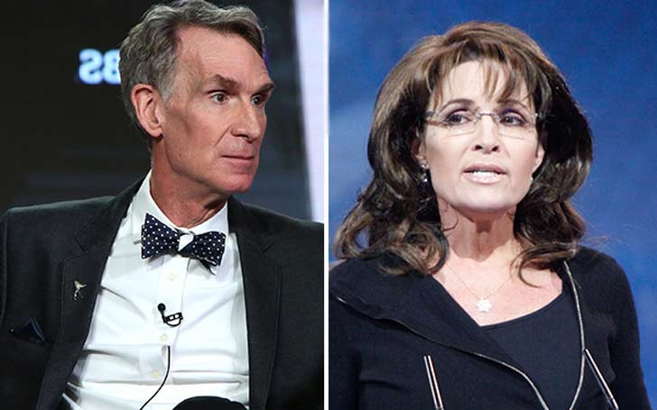 Sarah Palin disses Bill Nye. Says she's as much a scientist as he is.