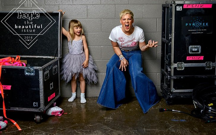 Grammy Winner Pink And Kids Looks Beautiful In New People Cover Issue