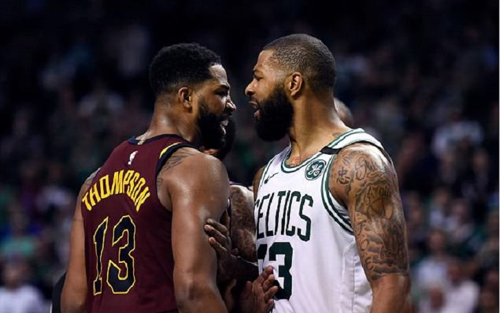 Tristan Thompson Meme Spread Rapidly On Internet After Cleveland Cavaliers Star Thompson Knocks Celtics Player Morris Off His Feet- See His Meme